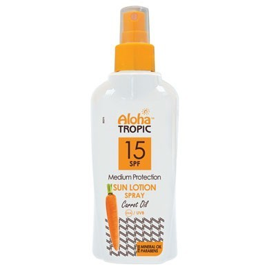 ALOHA TROPIC SUN LOTION SPF 15 Carrot Oil 200 ml