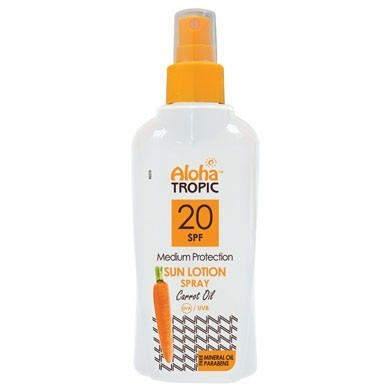 ALOHA TROPIC SUN LOTION SPF 20 Carrot Oil 200 ml