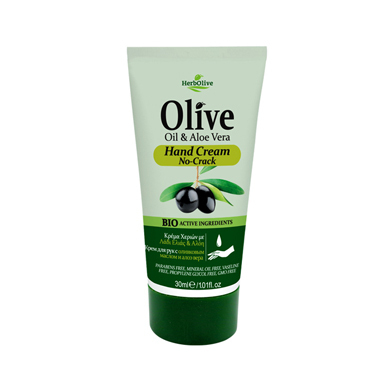 HERBOLIVE Handcreme Travel No-Crack Oil & Aloe 30 ml